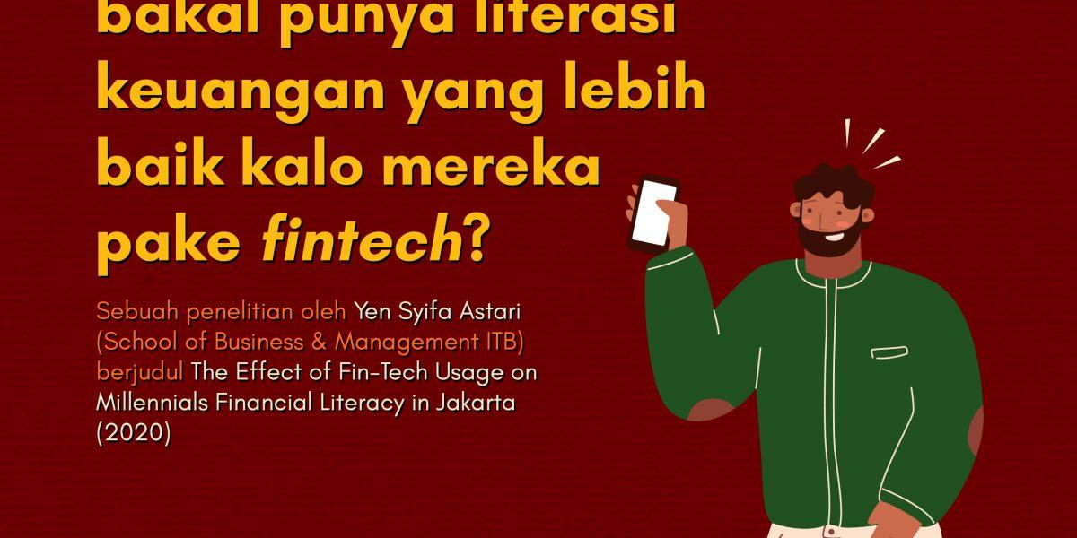 sampul studi Yen Syifa Astari tentang dampak fintek terhadap literasi keuangan milenial